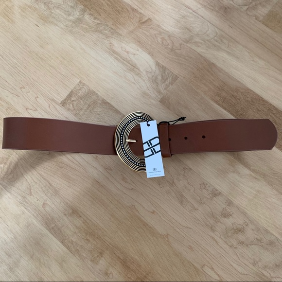 B-low the belt NWT faux brown leather belt